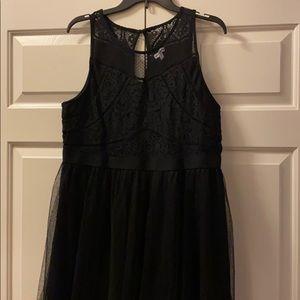 Black Shear Lace Sleeveless Dress